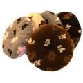 "Pet Cushion 20"" - 50cm Cream  Brown Paw Lucky Pet"