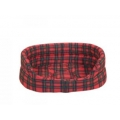 Large ++ Red Tartan Slumber Dog Bed - Danish Design Royal Stewart 101cm 40""
