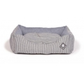 "Small+ Blue Striped Snuggle Dog Bed - Danish Design Maritime 45cm (18"")"