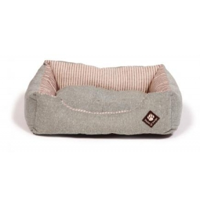 "Large Green Striped Snuggle Dog Bed - Danish Design Maritime 89cm (34"")"