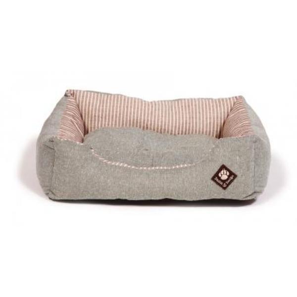 medium green striped snuggle dog bed danish design. Black Bedroom Furniture Sets. Home Design Ideas