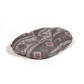 """Large+ Patterned Cushion Dog Bed - Danish Design Fairisle Pebble 89cm (35"""")"""