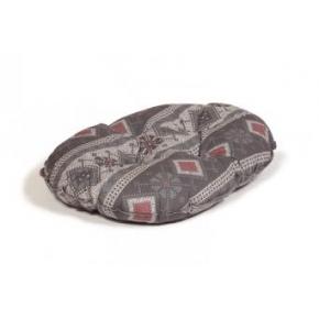 "Small+ Patterned Cushion Dog Bed - Danish Design Fairisle Pebble 45cm (18"")"