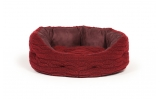 "Large++ Red Dog Slumber Bed - Danish Design Bobble Damson 40"" 101cm"