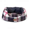 "Danish Design FatFace Penguin Check Deluxe Slumber Pet Bed 18"" / 45cm"