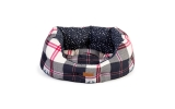 "Danish Design FatFace Penguin Check Deluxe Slumber Pet Bed 35"" / 76cm"