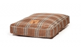 Large Brown Tartan Duvet Dog Bed - Danish Design Newton Truffle