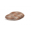 "Medium+ Brown Tartan Cushion Dog Bed - Danish Design Newton Truffle 27"" - 68cm"