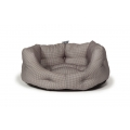 "Small+ Dogstooth Slumber Dog Bed / Cat Bed - Danish Design Vintage Dogstooth 18"" 45cm"