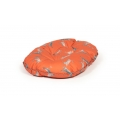 "Large Orange Hare Print Cushion Dog Bed - Danish Design Woodland Hare 33"" - 84cm"