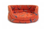 "Large++ Orange Hare Print Slumber Dog Bed - Danish Design Woodland Hare 40"" 101cm"