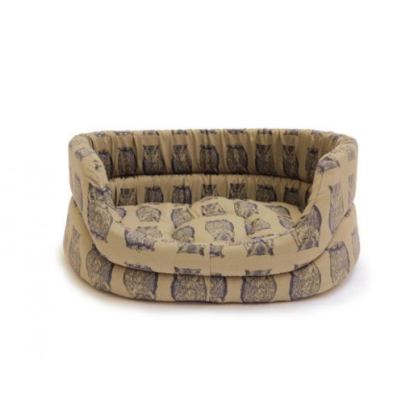 large owl print slumber dog bed danish design woodland. Black Bedroom Furniture Sets. Home Design Ideas