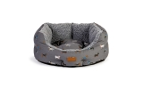 "Danish Design FatFace Marching Dogs Deluxe Slumber Pet Bed 24"" / 61cm"