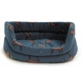 "Medium+ Stag Print Slumber Dog Bed - Danish Design Woodland Stag 27"" 68cm"