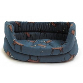 "Large+ Stag Print Slumber Dog Bed - Danish Design Woodland Stag 35"" 89cm"
