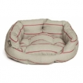 Large++ Red Striped Slumber Dog Bed - Danish Design Heritage Herringbone 101cm 40""