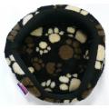 "Dog Bed Regal 20"" - 51cm Pet Bed Fur Lined Polar Fleece Paw Design Lucky Pet"