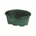 Perla Oval Dog Bed Green 24""