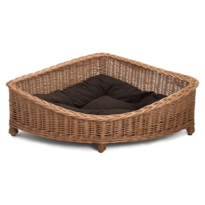 Prestige Wicker Luxury Dog Corner Basket Small