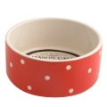 Polka Dot Red 18x8cm Dog Bowl Mason Cash