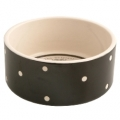 Polka Dot Black 18x8cm Dog Bowl Mason Cash