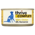 Thrive 100% Complete Wet Cat Food Chicken 75g Can