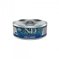 N&D Natural & Delicious Adult Cat Ocean Tuna & Shrimp 80g Wet Tin Food