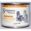 Simpsons Premium Certified Organic Adult Cat Food Chicken With Pumpkin 200g Can