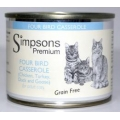 Simpsons Premium Adult Cat Food Four Bird Casserole 200g Can