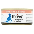 Thrive 100% Complete Wet Cat Food Tuna and Salmon 75g Can