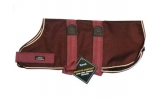 "Outhwaite Maroon fur lined 28"" Dog coat"
