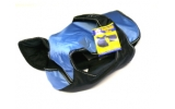 "Animate Light Blue With Black Waterproof & Reflective Padded Underbelly Nylon 22"" Dog Coat"