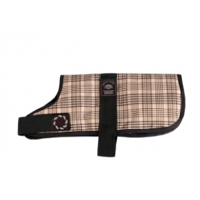 """Animate  Outhwaite Brown Becker Check Padded Dog Coat 12"""""""