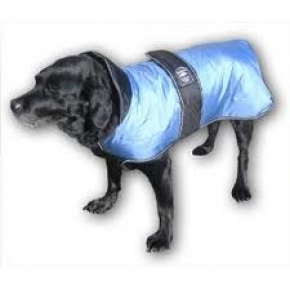 "Animate Outhwaite Light Blue With Navy Padded Underbelly Nylon 22"" Dog Coat"