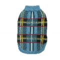 Animate Blue Tartan Design Polo Neck Jumper 14""
