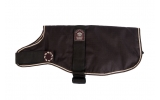 """Animate  Outhwaite Dachshund Padded Brown Dog Coat With Adjustable Belly Strap 19"""""""