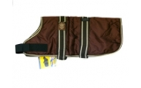 "Animate Brown Waterproof Padded Nylon 28"" Dog Coat"