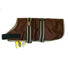 "Animate Brown Waterproof Padded Nylon 26"" Dog Coat"