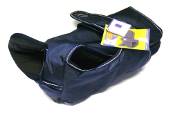 "Animate Navy Blue Padded Waterproof & Reflective Underbelly Nylon 34"" Dog Coat"
