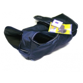 "Animate Navy Blue Padded Waterproof & Reflective Underbelly Nylon 28"" Dog Coat"