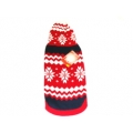 "Animate 10"" Red Christmas Snow Flake Hooded Jumper"