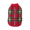 Animate Red Tartan Design Polo Neck Jumper 10""