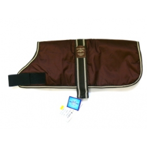 "Animate Brown Waterproof Padded Nylon 18"" Dog Coat"