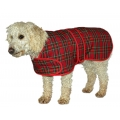 "Cosipet 18"" Red Tartan Dog Coat"