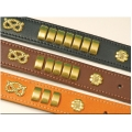 "Bull Terrier Collar 1&1/4"" x 16"" - 19"" Brown British by Design"