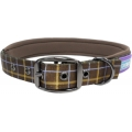 "Dog & Co Country Nylon Padded Buckled Collar Brown 1 "" X 18 - 22 "" Hemmo & Co"
