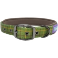 """Dog & Co Country Nylon Padded Buckled Collar Green 1 """" X 18 - 22 """" Hemmo & Co"""