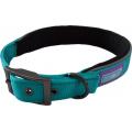 "Hem And Boo Reflective & Padded Nylon Buckle Collar Large 1"" X 18-22"" (45-55cm) Aqua"