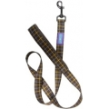 """Dog & Co Country Nylon Padded Handle Lead Brown 1 """" X 48 """" Hemmo & Co"""