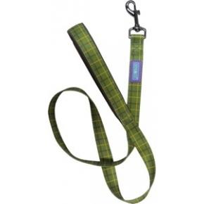 """Dog & Co Country Green Check Nylon Padded Handle Lead 3/4 """" X 48 """" Hemmo & Co"""